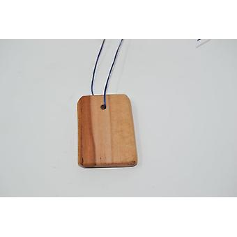 Wood Anhaenger Amulet Wood Necklace Apple Wood Unique Handmade Wood Anhaenger Apple Made in Austria