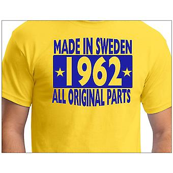 T-shirt jaune made in Sweden 1962 ALL original Parts
