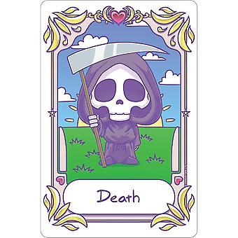 Deadly Tarot Kawaii Death Tin Sign