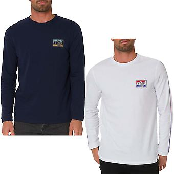 Animal Mens Nold lung mânecă echipajului gât casual bumbac logo tricou tee top