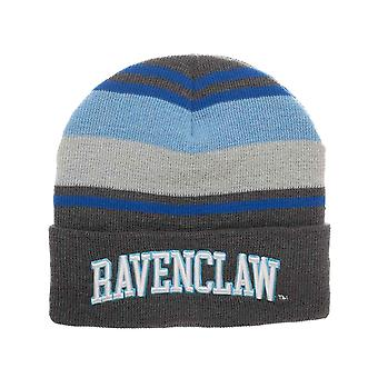 Harry Potter Beanie Hat Ravenclaw House Embroidery Logo new Official Striped