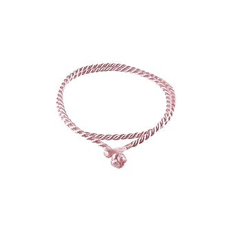 Storywheels Antique Ice Pink Rayon Cord 42cm Necklace RCIPINK