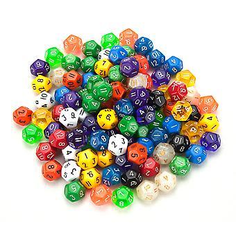 100+ Pack de dados poliédricos al azar D12 en varios colores