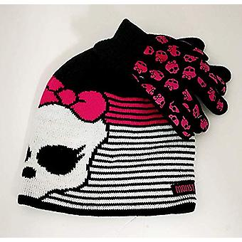 Beanie Cap - Monster High - Skull Stripe Hat w/Glove Set 137042