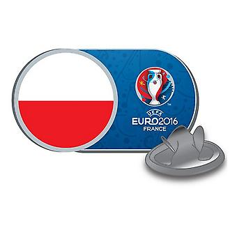 EURO 2016 Poland Flag Football Supporters Pin Badge