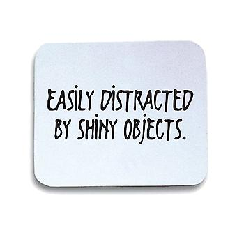 White mouse pad trk0333 shiny objects 2
