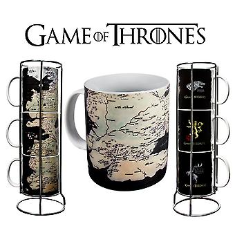 Game of Thrones Map of Westeros Stacking Mugs