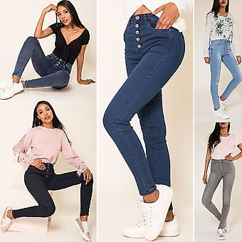 Womens High Waist Jeans Sexy Pants Jeggings Stretch Skinny Treggings High Waist