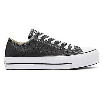 Converse All Star Lift Glitter Womens schwarz / weiß Ox Trainer