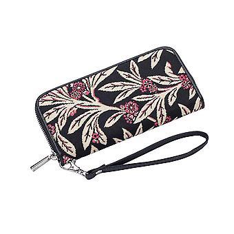 Golden fern long zip rfid money purse by signare tapestry / lzip-gfern