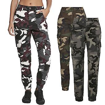 Urban Classics Ladies - Pantalon cargo Haute Taille Stretch