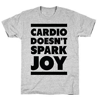 Cardio vonk niet vreugde grijs t-shirt