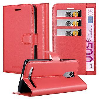 Cadorabo Hülle für ZTE Blade A602 Case Cover - Handyhülle mit Magnetverschluss, Standfunktion und Kartenfach – Case Cover Schutzhülle Etui Tasche Book Klapp Style