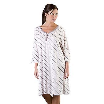 السيدات بقعة الوردي M/L ملابس النوم نايتدريس الطباعة