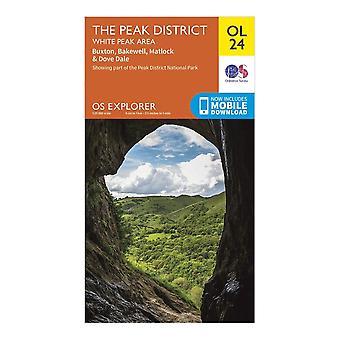 New Ordnance Survey Explorer OL24 The Peak District Orange