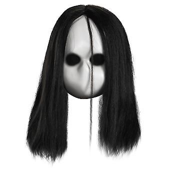 Blank Black Eyes Doll Ghost Horror Halloween Kvinders Herre Kostume Mask