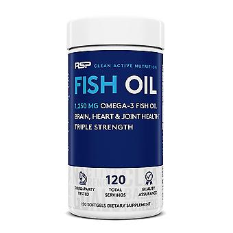 Rsp fish oil, heart, brain & joint health, 3x strength omega (120 capsules)