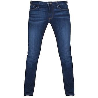 Emporio Armani J06 Slim Fit Mid Blue Washed Denim Jeans 8N1J06 1V0LZ