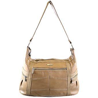 Signore cuoio borsa a spalla / mano Bag (Black)