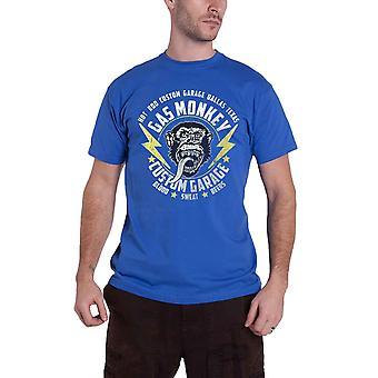 Gas Monkey Garage T Shirt Lightning Bolts GMG Logo new Official Mens Blue
