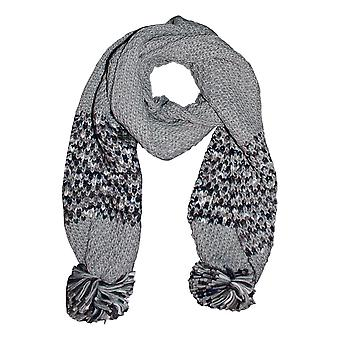 Regatta Donne's Frosty III Pom Pom Scarf Light Steel One Size