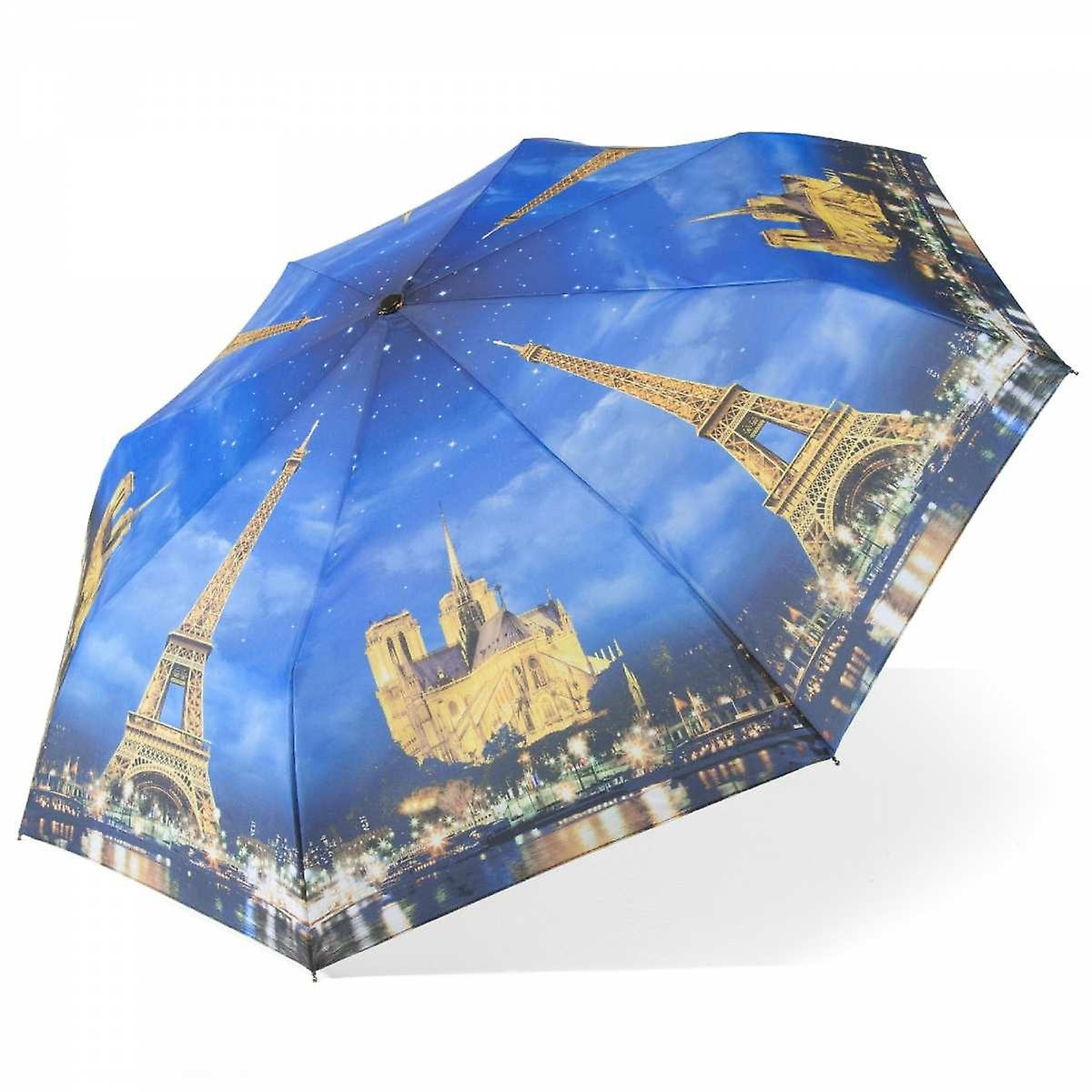 Umbrella automatic Pocket umbrella motif Paris at night