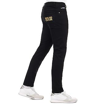 Blugi Versace Couture Skinny Fit Gold Brodate Pocket Jeans