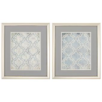 """18"""" X 21"""" Champagne Gold Color Frame  Blue Wall (Set of 2)"""