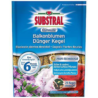 SUBSTRAL® Osmocote Balcone Fiori Cono Fertilizzante, 25 pezzi
