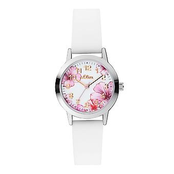 s.Oliver Dames horloge polshorloge siliconen SO-4076-PQ