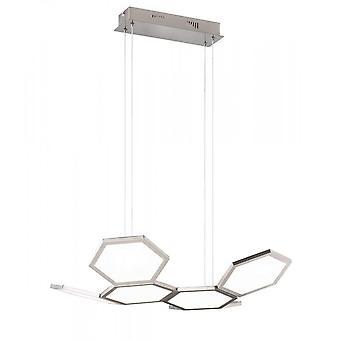 Placa WOFI Luz do pingente do teto de led único em matt nickel acabamento 6323.01.64.8000