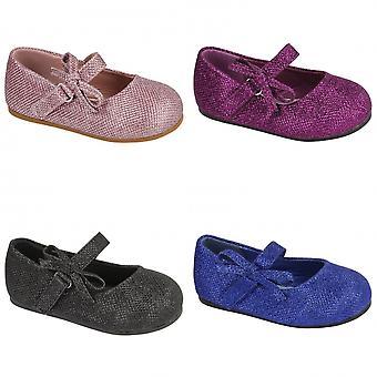 Flekk på barnas/småbarn jenter Glitter sløyfe stroppen sko