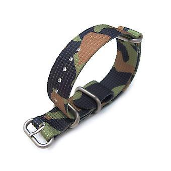 כתפיות n. t. o שעון רצועה miltat 20mm 3 טבעות זולו jb הצבא שעונים רצועה תלת-ממד ארוגים ניילון הסוואה-חום כפרי, מוברש