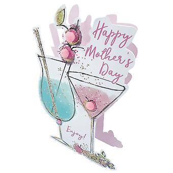 Second Nature Paper Dazzle 3d Pop Out Cocktails Mothers Day Card