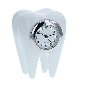 TM White Dental Tooth Miniature Novelty Collectors Desk Horloge TM26