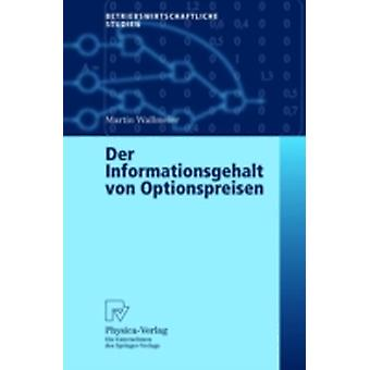 Der Informationsgehalt von Optionspreisen by Wallmeier & Martin