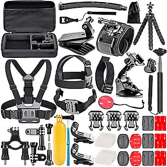 GoPro Kit with 45 Parts + bag
