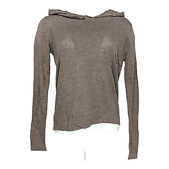 Linea por Louis Dell'Olio Women's Sweater Knit Hoodie Bege A268127