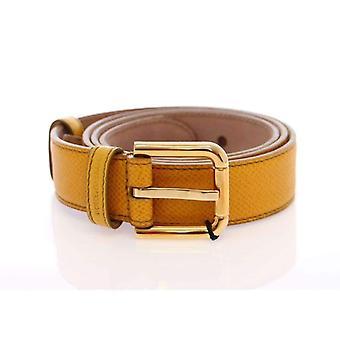 Dolce & Gabbana gult gull Logo lærbelte - BHD1004293