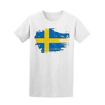 Scratched Sweden Flag Tee Men's -Image by Shutterstock