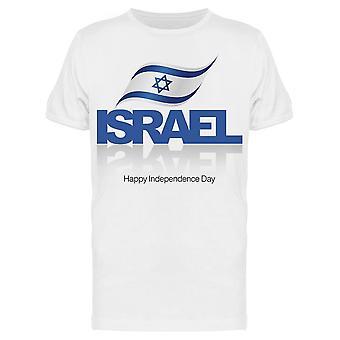 Bandeira da Independência de Israel Tee Men's -Imagem por Shutterstock