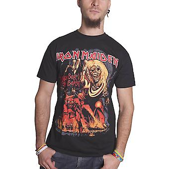 Iron Maiden T Shirt Number of the Beast Graphic Band Logo Official Mens Black