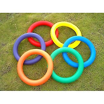 EVM-0011, Foam Juggling Ring Ring - 10-quot; - ensemble de 6 couleurs