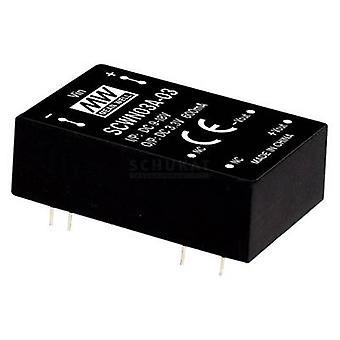 Keskimääräinen hyvin SCWN03A-15 DC/DC-muunnin (moduuli) 200 mA 3 W Ei. lähtöjen määrä: 1 x