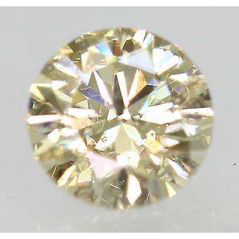 Cert 0.49 Karat Fancy Yellow VS2 Runde brillant verbessert natürlichen Diamant 5.03mm