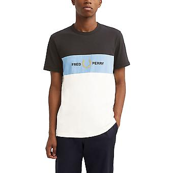 Fred Perry Men's Embroidered Panel T-Shirt Regular Fit