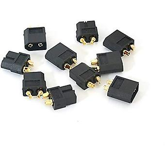 Yunique Italia MI-UZJY-99DD Connettori Xt60 di Alta qualità Maschio-Femmina Connettori per Batterie da Modellismo Rc Lipo (Nero) 5 Paia