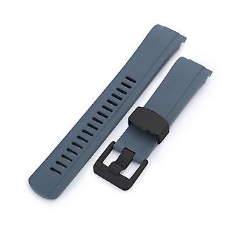 Strapcode kumikellohihna 22mm crafter sininen - cb10 harmaa kumi kaareva kengänkello nauha seiko skx007 wcp63549