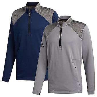 adidas Golf Herren 2020 COLD. RDY 1/4 Zip Langarm Stretch Pullover