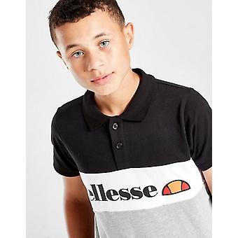 Nueva Camiseta Ellesse Boys' Color Block Polo Camiseta Negra
